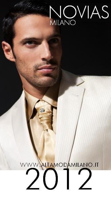 2012 abiti da cerimonia uomo milano NOVIAS lo sposo và in BIANCO ... b1b0c4eaf18